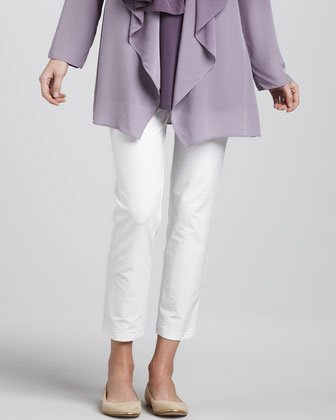 Ombre Silk Jacket, Sleeveless Jersey Tunic & Ombre Silk Scarf & Slim ...