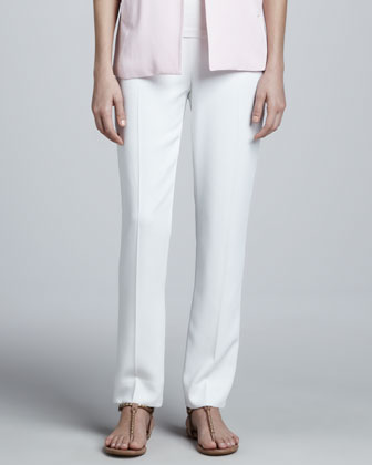 Lisa Side-Zip Ankle Pants