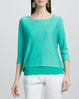 Eileen Fisher Lightweight Linen Pullover Top, Women's