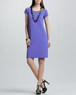 Eileen Fisher Washable Jersey Knee-Length Dress