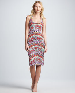 Mara Hoffman Fitted Jersey Coverup Tank Dress