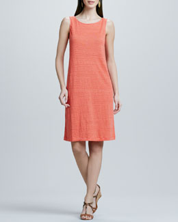 Eileen Fisher Striped Shift Jersey Dress, Women's