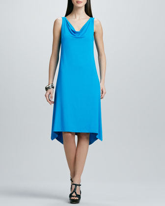 Cowl-Neck Washable Jersey Dress