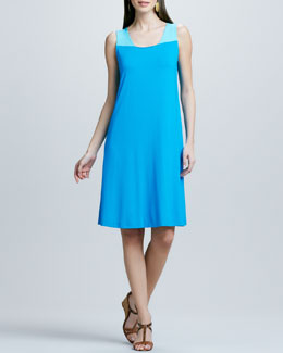 Eileen Fisher Colorblock Jersey Dress, Women's