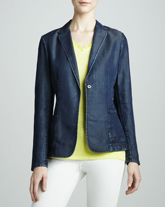 Abby Denim One-Snap Jacket