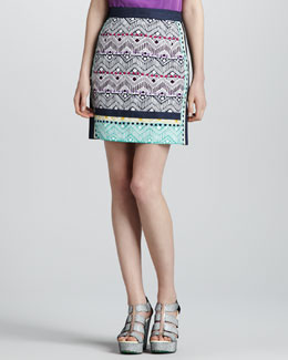 Nanette Lepore Tinos Printed Pencil Skirt