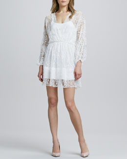 Alice + Olivia Julia Lace-Overlay Dress