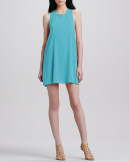 Alice + Olivia Liz Twist-Back Tunic Dress