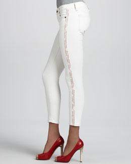 TEXTILE Elizabeth and James Dean Sugar Side-Stripe Skinny Jeans