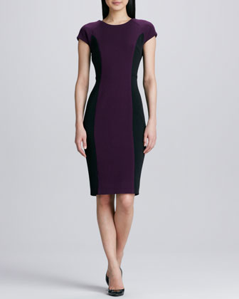 Colorblock Structured Dress