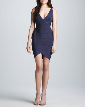 plunging neckline formal short dress