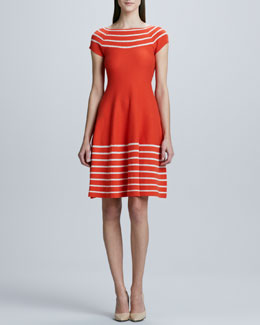 kate spade new york amaila fit-and-flare sweater dress