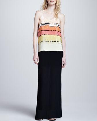 Long Jersey Illusion Skirt