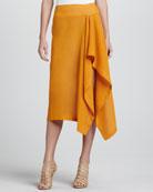 Linen Sarong Skirt, Amber