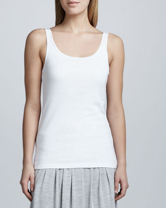 Boxy Linen Top, Organic Cotton Slim Tank, Parallelogram Scarf & Colorblock ...