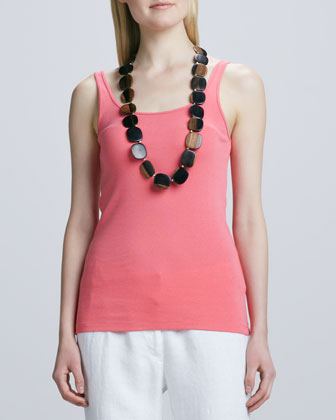 Organic-Cotton Long Tank, Petite