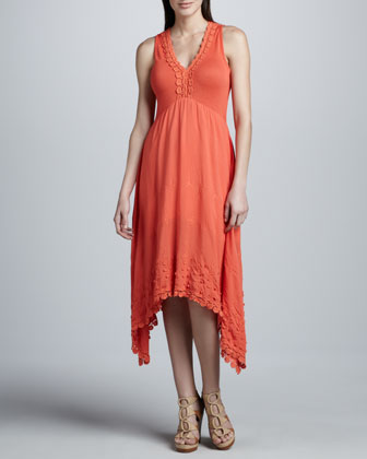 Anguin Embroidered Knit Dress