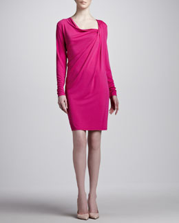 Michael Kors Jersey Draped Shift Dress