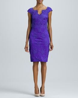 David Meister Lace Cocktail Dress