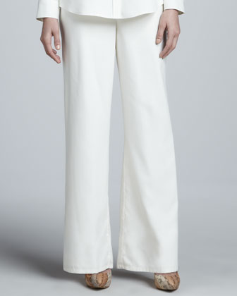 Fuji Silk Full-Leg Pants