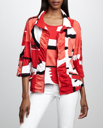 Graphic-Print Jacket, Women's