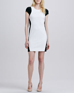 Diane von Furstenberg Pele Colorblock Eyelet Dress