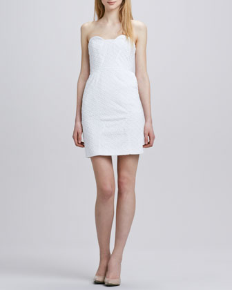 Sahara Strapless Ring Eyelet Dress
