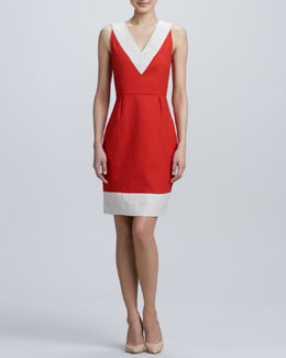 kate spade new york james two-tone sleeveless dress