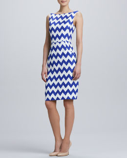 kate spade new york brent chevron pattern dress