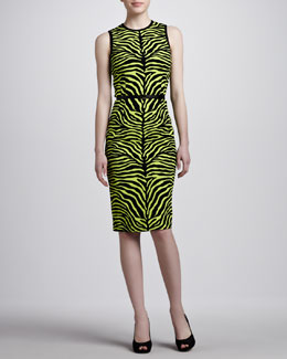 Michael Kors Zebra-Print Sheath Dress