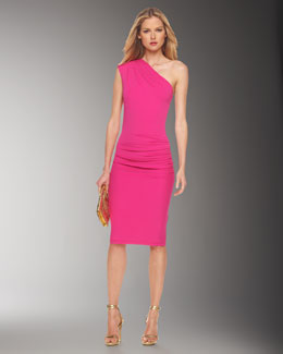 Michael Kors One-Shoulder Sheath