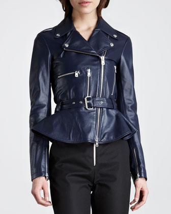 peplum motorcycle jacket