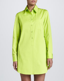 Michael Kors Poplin Shirtdress, Acid