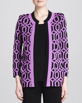 Carlotta Chain-Print Knit Jacket