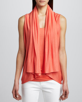 Convertible Draped Cardigan