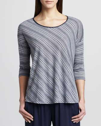 Bias-Striped Tie-Back Top