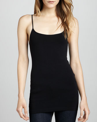 Knit Jersey Camisole, Black