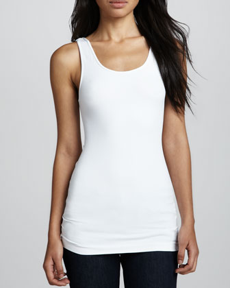 Formfitting Jersey Tank, White