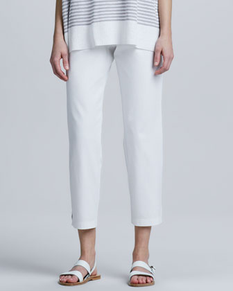 Organic Cotton Slim Ankle Pants