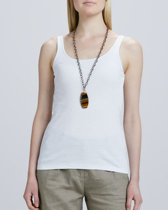 Delave Washed Linen Shirt Dress, Organic Cotton Slim Tank & City Shorts ...