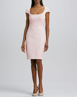 Badgley Mischka Textured Cocktail Dress