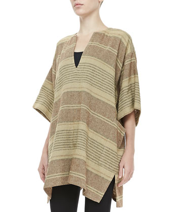 Striped Split-Front Tunic