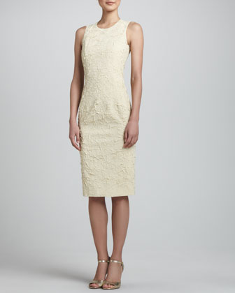 Georgette Sheath Dress, Ivory