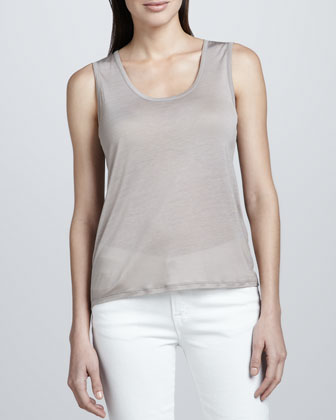Sheer Scoop-Neck Tank