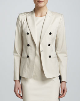 DKNY Long-Sleeve Faux-Button Jacket