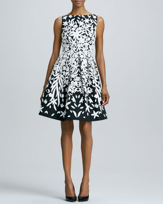 Appliqu??d Cocktail Dress