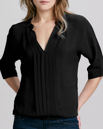 Marru Silk Blouse, Caviar