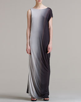 Helmut Lang Shadow Ombre Long Dress