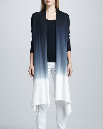 Dip-Dye Waterfall Cardigan