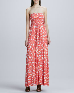 Rachel Pally Strapless Long Dragonfly Printed Dress, Women's